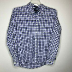 Tommy Hilfiger Mens L Purple and White Shirt